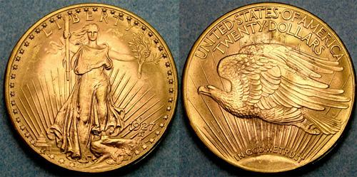 1927-D Saint Gaudens Double Eagle